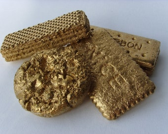 Gold Biscuit Magnets