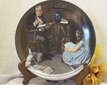 """Vintage Norman Rockwell's Heritage Collection Series Collectors Plate,Bradex, The Storyteller"""",Knowles Fine China,#VCP8004"""