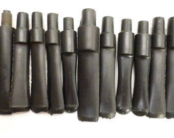 ManVsPipe Vulcanite Pipe Stems for Pipe Carving Lot x13