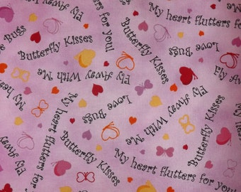 Quilting Treasures Love Bugs Bubblegum  Quilters cotton fabric BTY