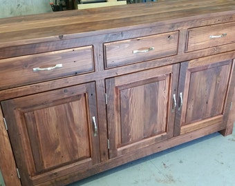Antique Reclaimed Buffet Table, Entryway Table, Dining Room, TV stand