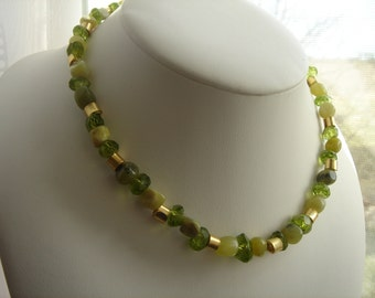 Wonderful necklace with Peridot