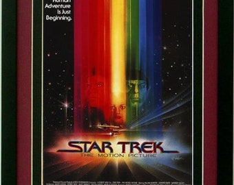 Star Trek 1 Movie Poster Custom Framed Print A+ Quality