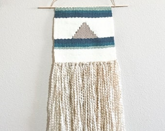 Woven Wall Hanging | Tapestry | Home Decor | Blue Ombre Wall Hanging | Weaving