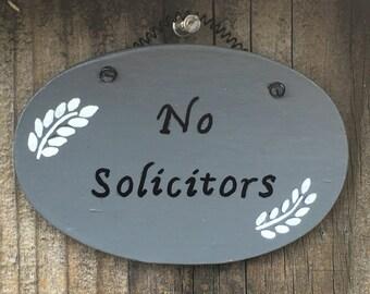 No Solicitation Sign - No Solicitors Sign - No Soliciting Sign - No Solicitors Wood Sign - No Solicitation Door Sign - Front Door Sign