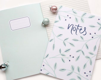 Floral Noted A5 Lined Notebook | Stocking Filler