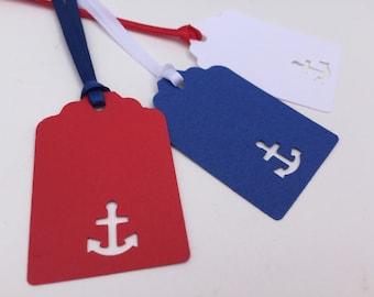 Nautical Gift Tag, Nautical Hang Tag: 9 Nautical Tags