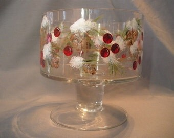 Small Holiday/Winter Theme trifle Bowl