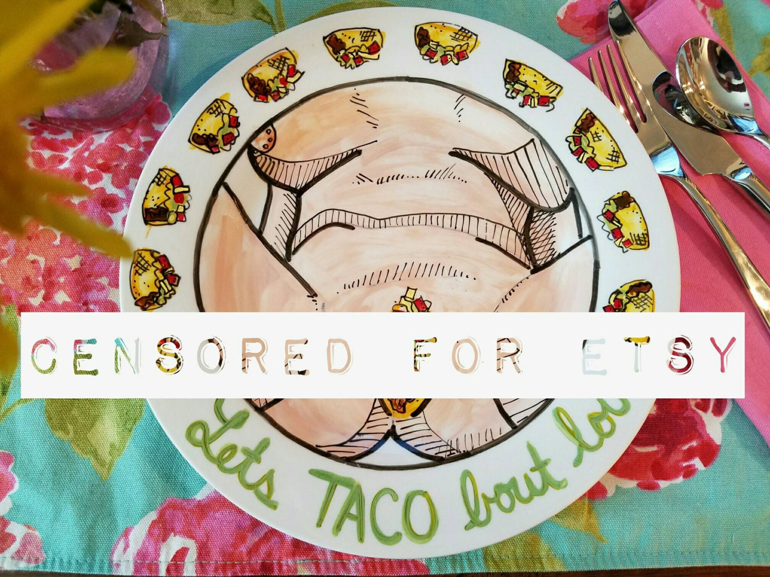 Sexy Taco Plate Dirty Taco Plate Lets Taco Bout Love Adult-2101