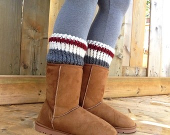 Boot Cuffs - Canada Boot Socks - Leg Warmers - Boot Toppers - Winter Accessories