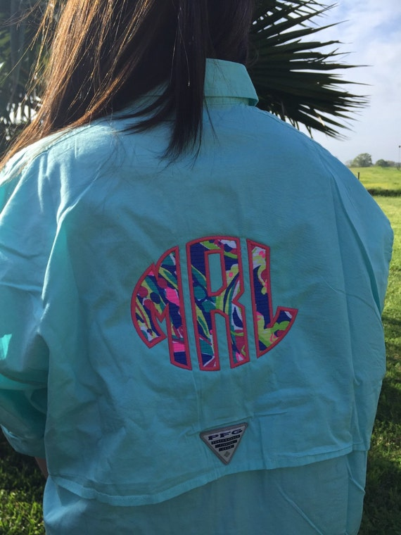 Kids lilly pulitzer monogrammed fishing by sewfancyembroidery for Toddler columbia fishing shirt
