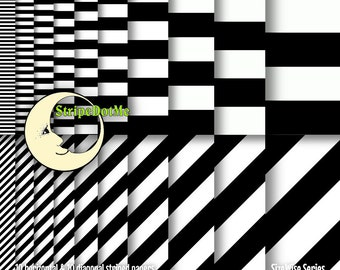 Stripe Digital Paper, Striped Paper, Digital Paper Stripe, Stripes, Diagonal Stripes, Striped Digital, Black and White, CU, 00071