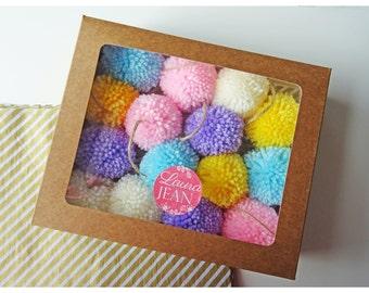 Decorative Made To Order Colour Pretty Pastel Pom Pom Garland