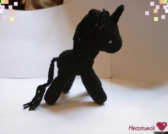 Black Unicorn Amigurumi
