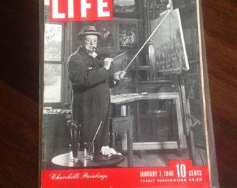 Life Magazine January 7, 1946 Featuring Churchill's Paintings