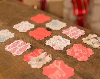 AWESOME Square Scalloped Gift Tags- One Dozen