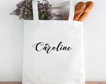 Personalized Tote, Name Tote, Bridesmaid gift, Wedding tote