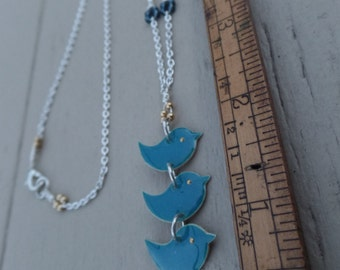 Bluebird Trio Necklace