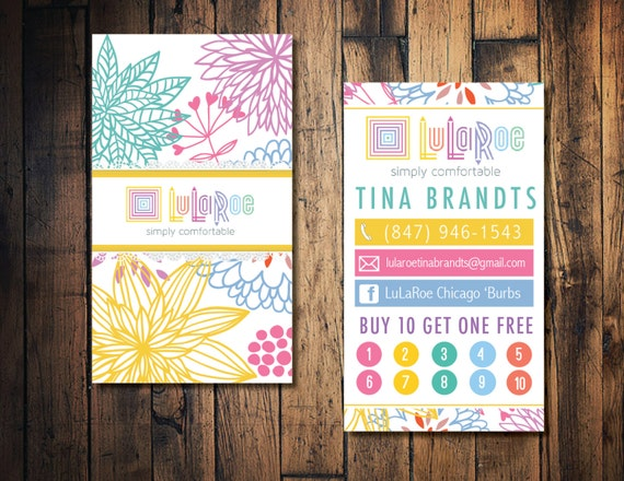 LulaRoe business card LulaRoe punch card by TheWrightInvite
