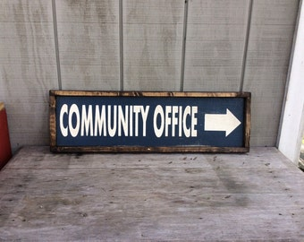 Office Sign Community Office Sign Custom Name Sign