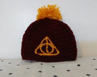 Gryffindor Deathly Hallows Hat