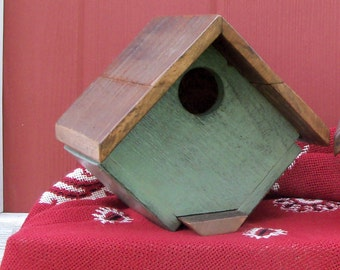 Handmade and Hand painted Bluebird House made from Reclaimed Wood