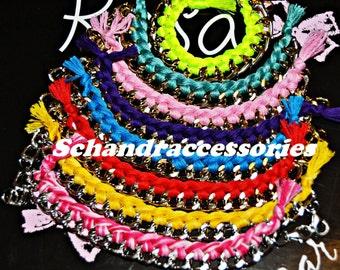 Wire & chain bracelets