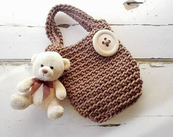 Bags for Girls/ Knitted Bags/ Rope Bags/ Handmade Bags/ Crochet Bags/ Tote/ For Kids/ Summer Handbags/ Baby Bag/ Cotton Bags