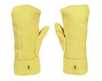 """13"""" 22 oz Kevlar® Mittens High Heat Wool-Lined Precious Metal Jewelry Casting Gold and Silver Safety Gear - SAF-0020"""