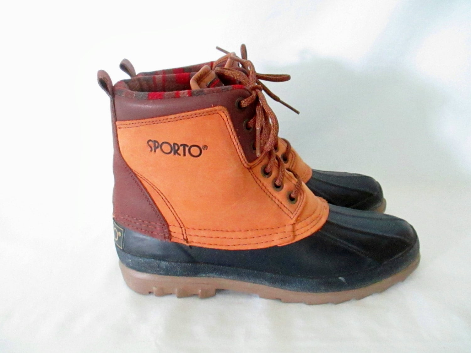 Brilliant Women Sporto DEDE BROWN Leather Lace-Up Waterproof Duck Boot Shoes | EBay