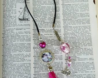 I Love my Cat bookmark Cat Lover bookmark Pink Beaded bookmark Cat Bookmark Book accessories Best friend Gift Cat lover gifts under 20