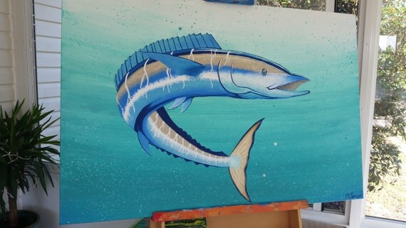 Blue wahoo painting