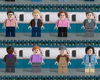 Gilmore Girls (Luke's Diner) themed A5 print featuring LEGO minifigs