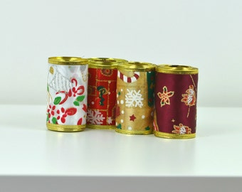 New wide wired Christmas ribbon, 10 yard in total, Craft supplies, Christmas decor, Organza