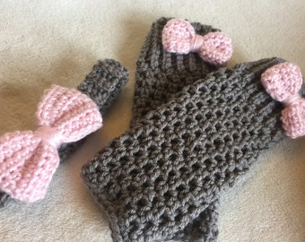 Infant Leg Warmers and Matching Headband with Bow