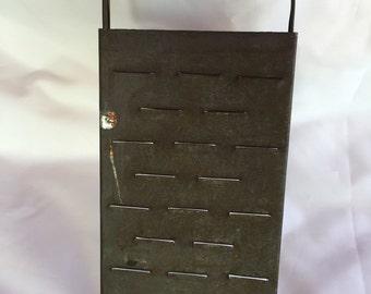 Vintage metal grater primitive