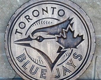 Carved Toronto Blue Jays Sign, Jays, Baseball