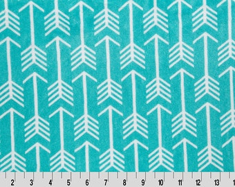 Premier Archer Arrow Cuddle in Teal and Snow from Shannon Fabric
