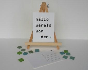 Map ' Hello World wonder '