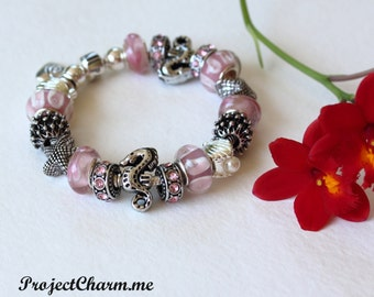 Pandora Charm Bracelet ~ CHARMED by the SEA ~ with European Beads