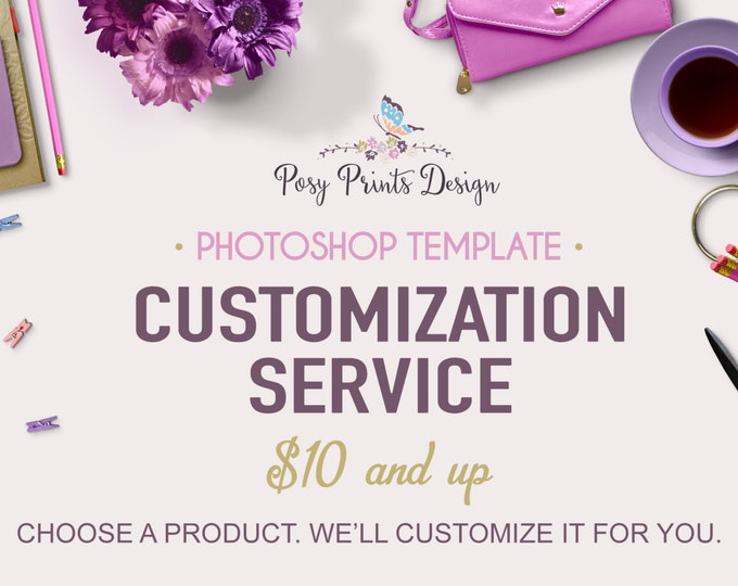 Customization Service - Turn a template into a printable - Custom graphic design - Customize Card