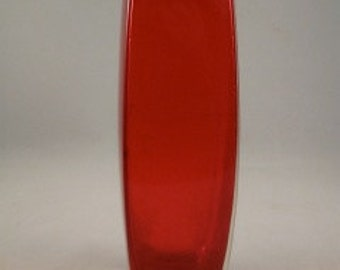 Tall Diamond Shaped Ruby Red Bud Vase