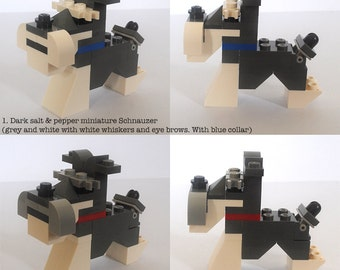 Customisable Lego Miniature Schnauzer