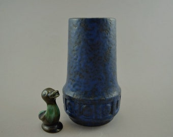 Vintage vase made by Scheurich / 243 17 / Vulcano | West German Pottery | 60s