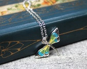 Dragonfly Necklace with S...