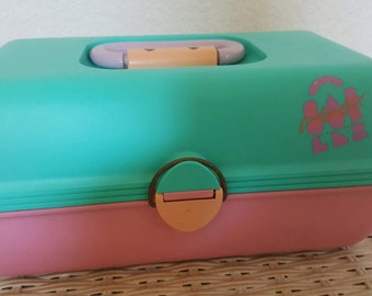 1980s Caboodle make up box