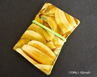 Bananas credit card wallet. Handmade.