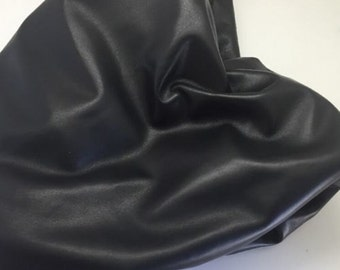Italian Genuine Lambskin Leather Hide Fine 1.5 Oz Napa Skin 4 Garment Black 231