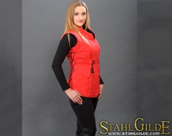SALE -20% Larp Medieval Fantasy female gambeson for female armor (2 layers) without sleeves
