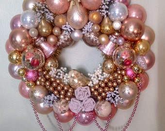 Vintage shabby chic Easter ornament wreath.  GORGEOUS!